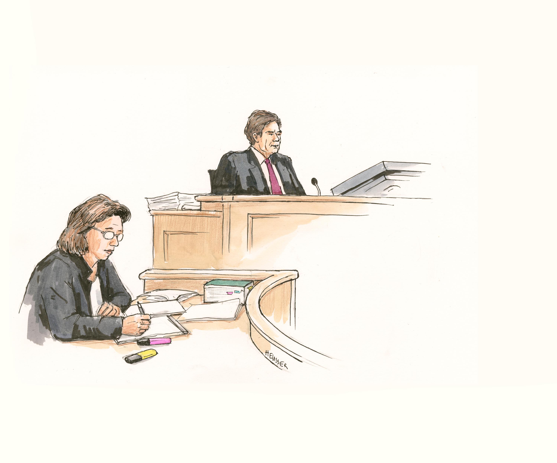Die Staatsanwältin und der Richter.