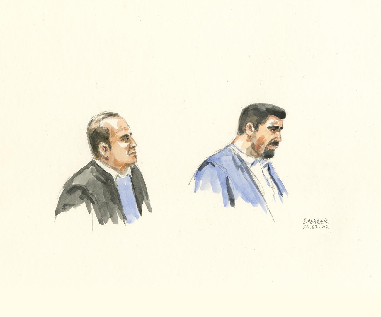 Ein Angeklagter und ein Kronzeuge