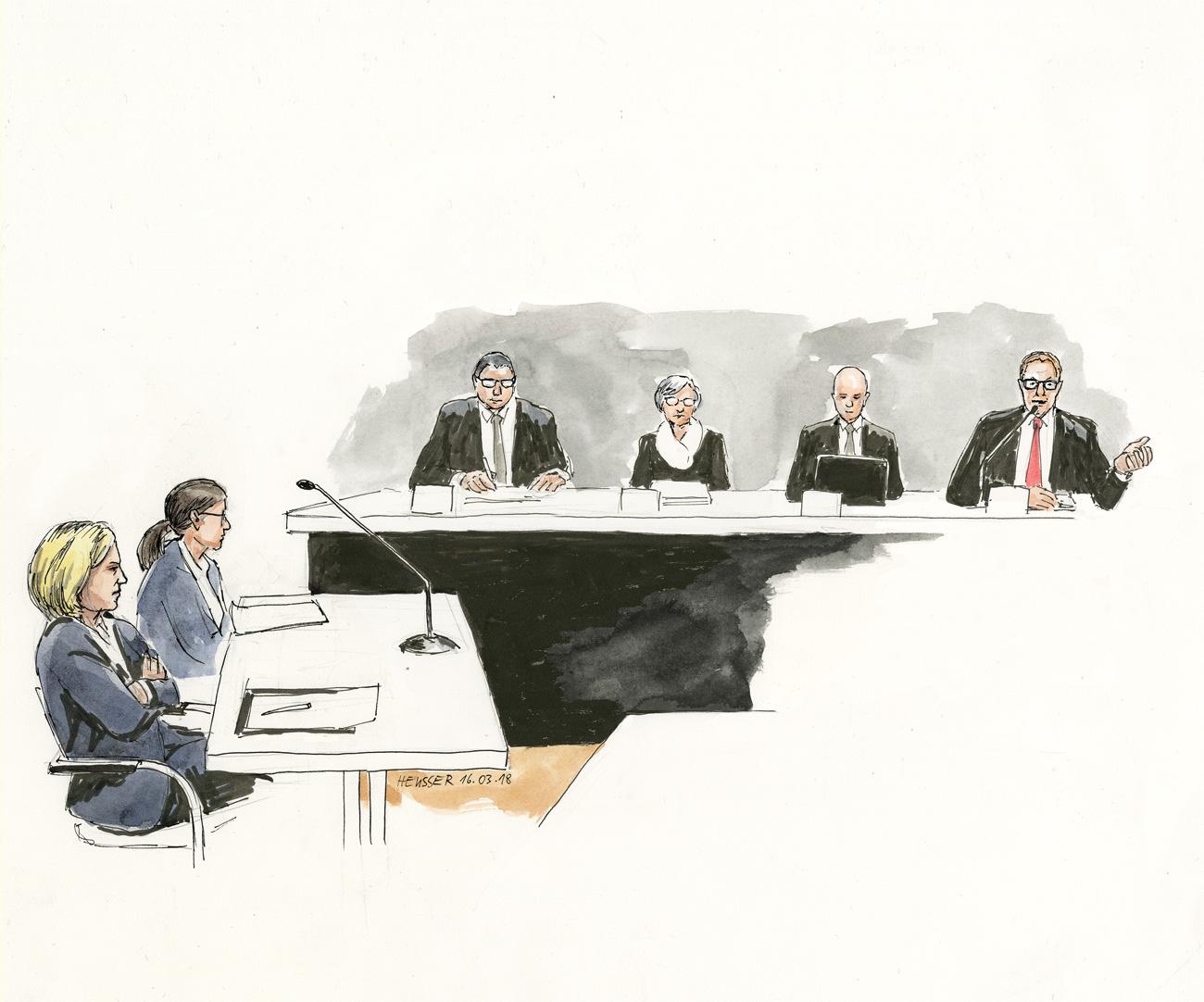 Die Staatsanwältin und die Richter